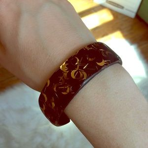 Vintage moon galaxy glitter bangle bracelet